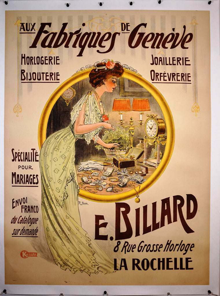 Fabriques Geneve (1922) - Original and Authentic Vintage Poster