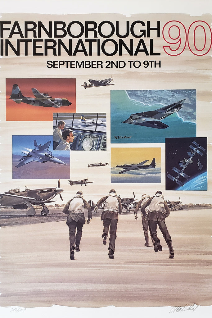 Farnborough Airshow (1990) - Original and Authentic Vintage Poster