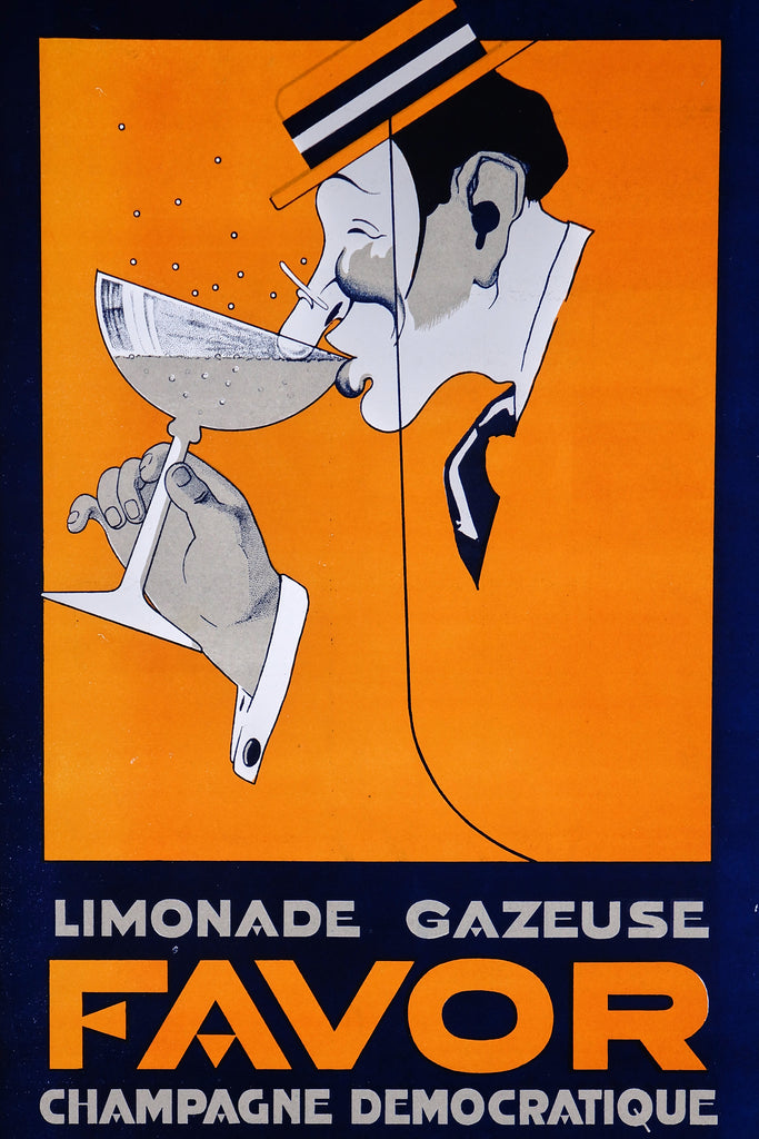 Favor Limonade Gazeuse (1920s) - Original and Authentic Vintage Poster