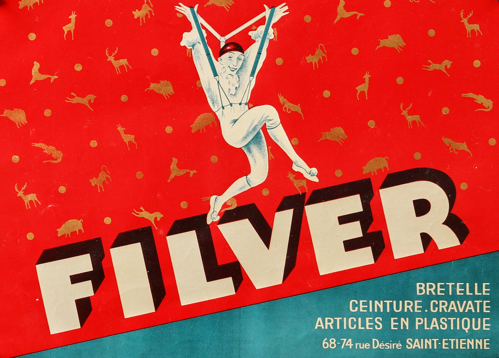 Filver Suspenders (1930s) - Original and Authentic Vintage Poster