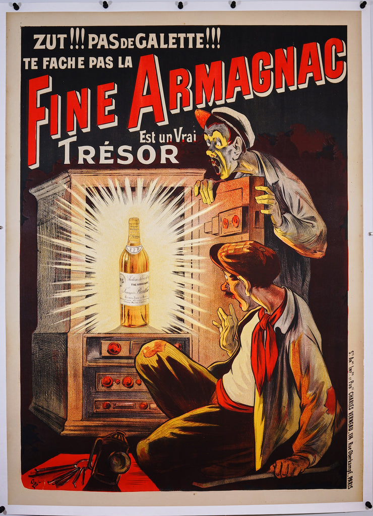 Fine Armagnac (1910s) - Original and Authentic Vintage Poster