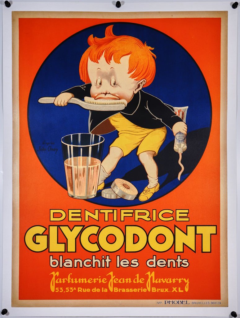 Glycodont Dentifrice (1920s) - Original and Authentic Vintage Poster