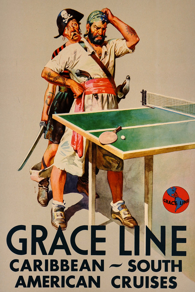 Grace Line Cruises (1938) - Original and Authentic Vintage Poster