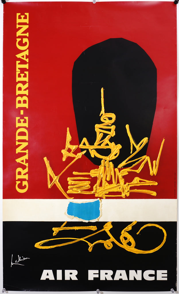 Air France- Grande Bretagne by Georges Mathieu (1967) - Original and Authentic Vintage Poster