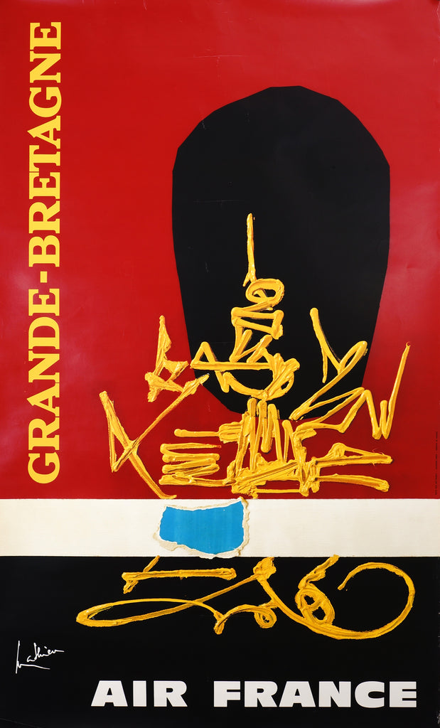 Air France- Grande Bretagne by Georges Mathieu (1967) - Authentic Vintage Posters