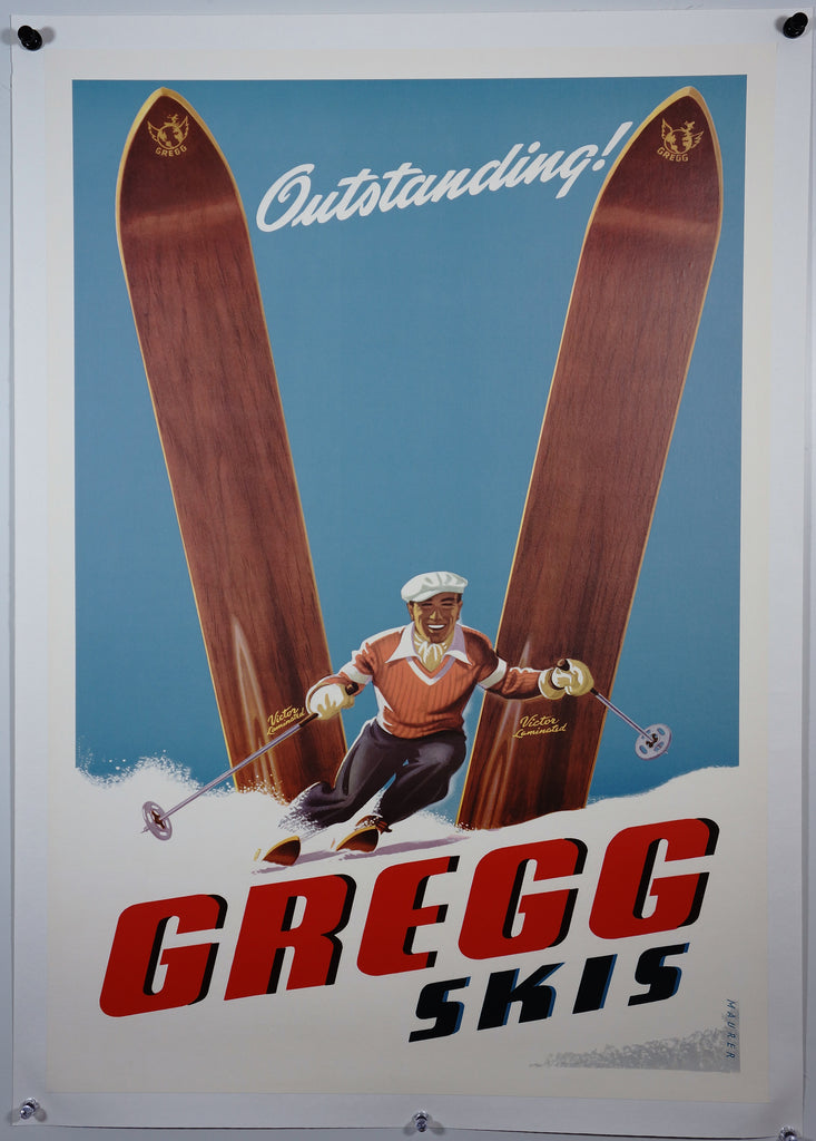 Gregg Skis (1960s) - Original and Authentic Vintage Poster