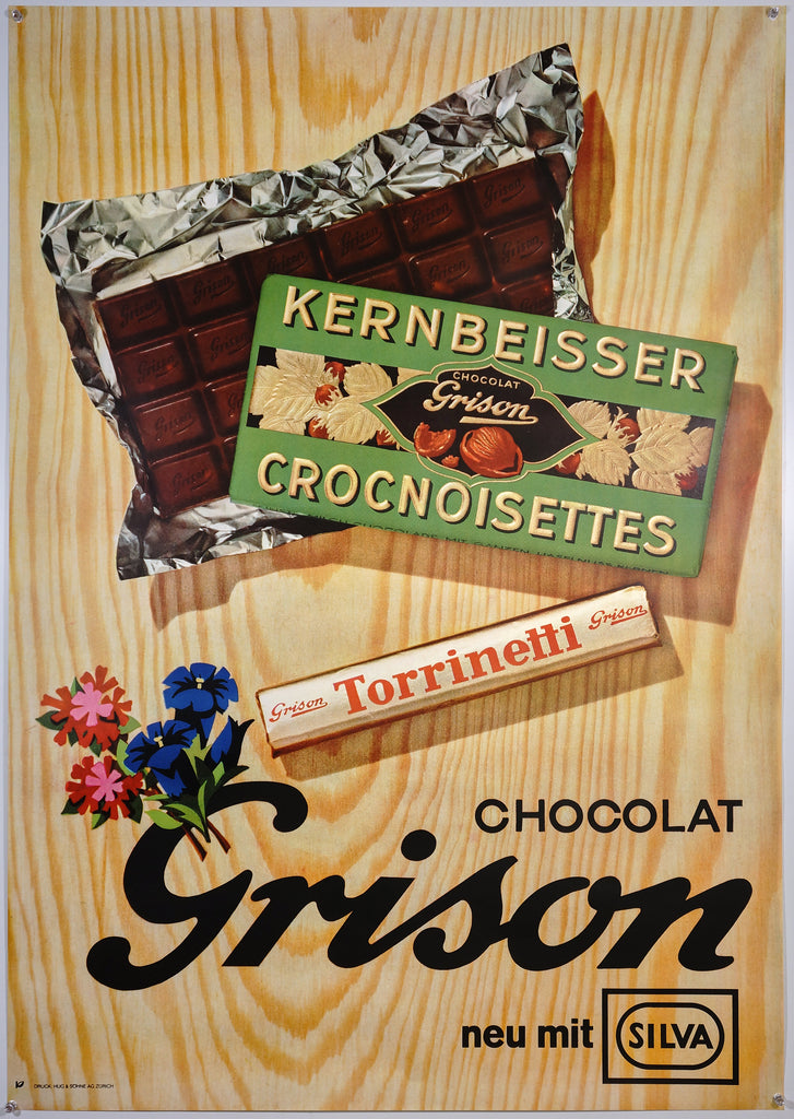 Grison Chocolat (1962) - Original and Authentic Vintage Poster