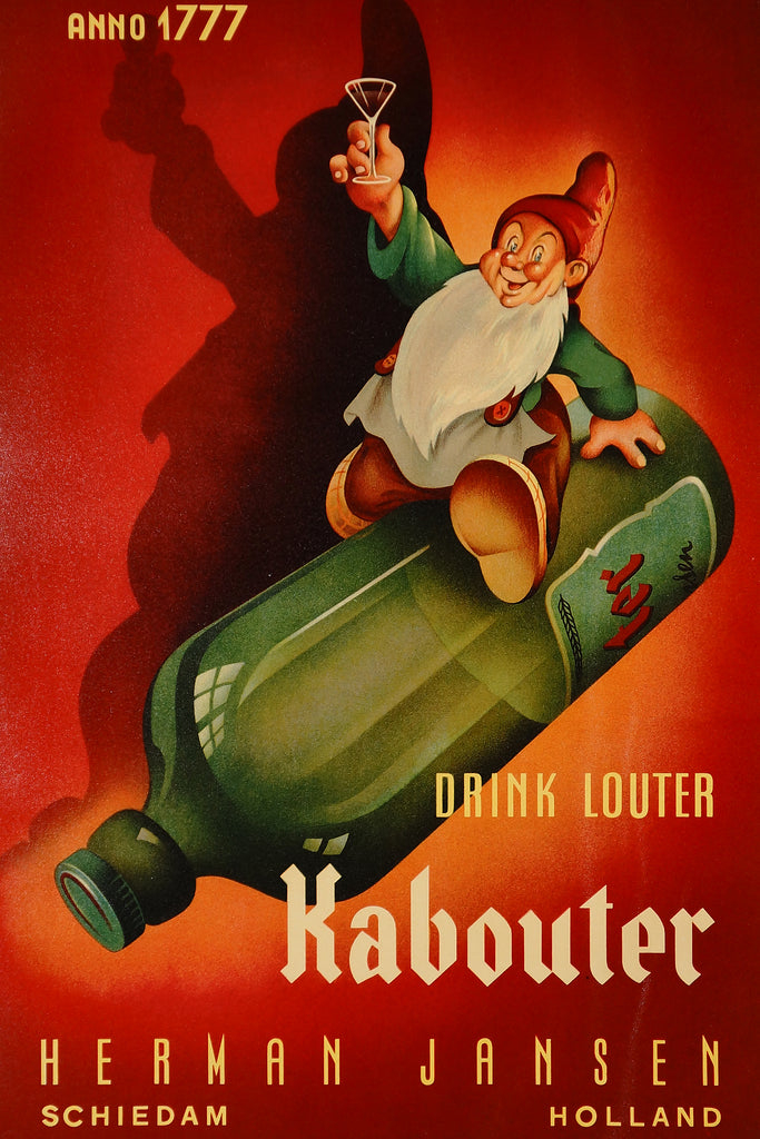 Drink Louter Kabouter (1940s) - Original and Authentic Vintage Poster
