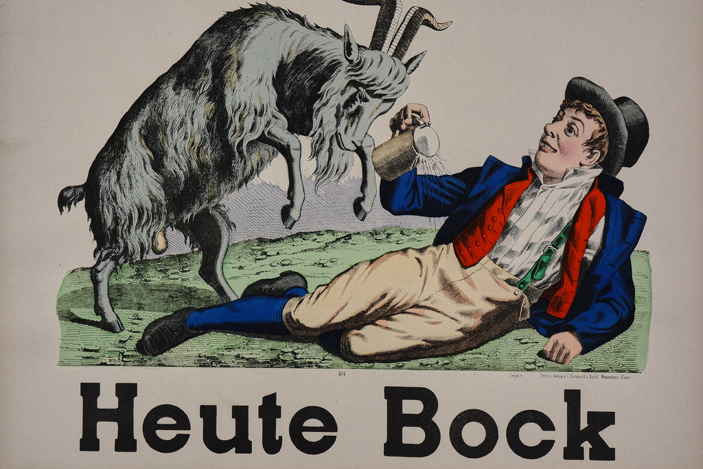 Wissembourg- Heute Bock No. 404 (1890s) - Original and Authentic Vintage Poster