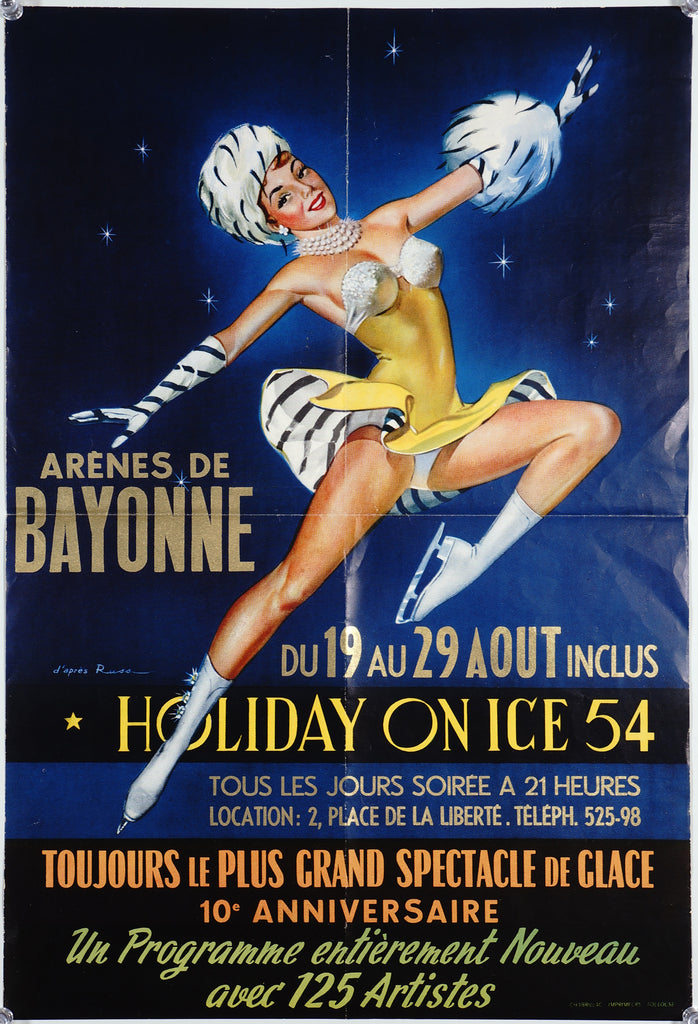 Holiday on Ice 54 (1954) - Original and Authentic Vintage Poster