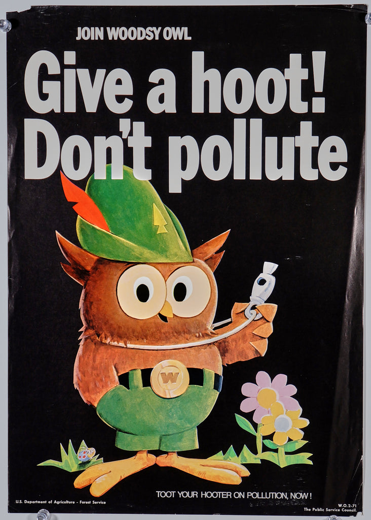 Woodsy Owl (1971) - Original and Authentic Vintage Poster