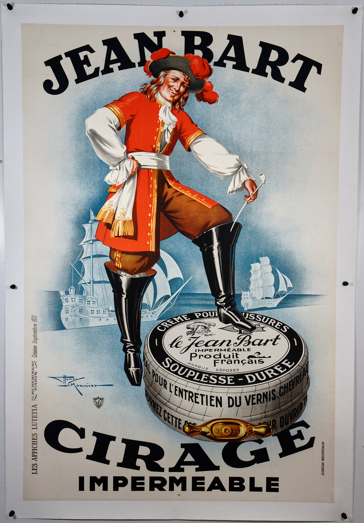 Jean Bart Cirage Impermeable (1933) - Original and Authentic Vintage Poster