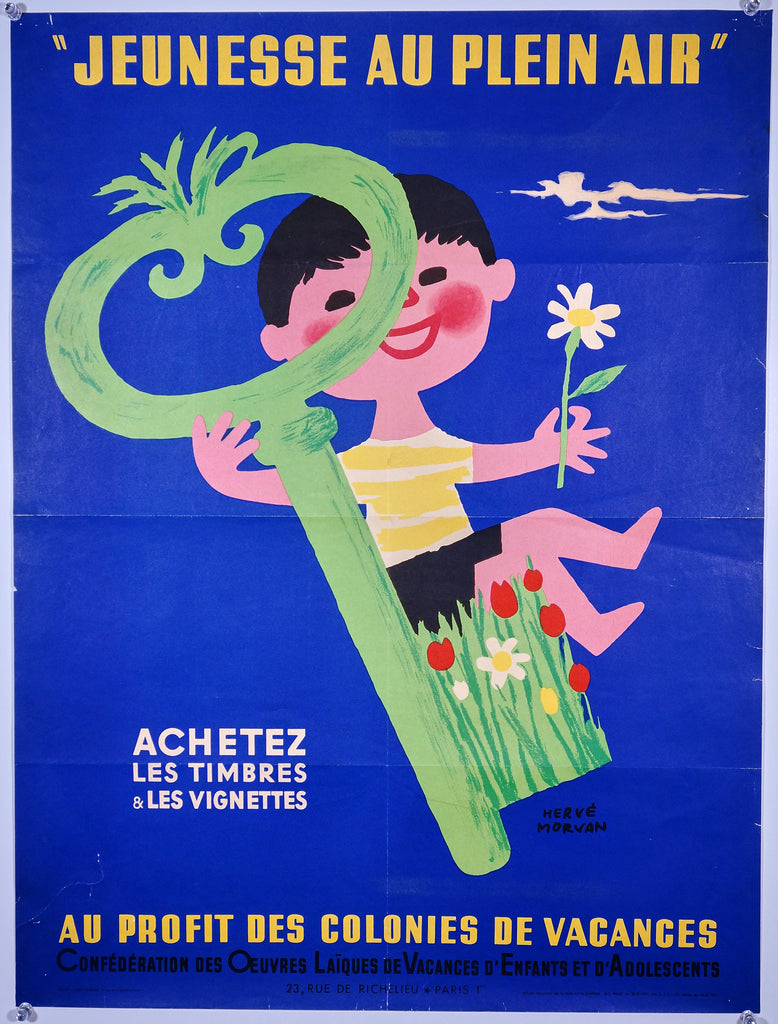 Jeunesse au Plein Air by Hervé Morvan (1951) - Original and Authentic Vintage Poster