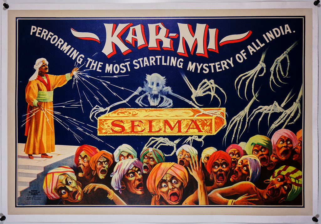 Kar Mi Magic Show (1914) Vintage Poster