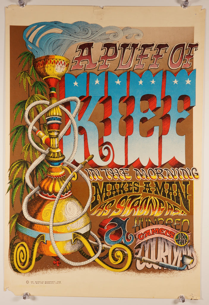 A Puff of Kief (1967) - Original and Authentic Vintage Poster