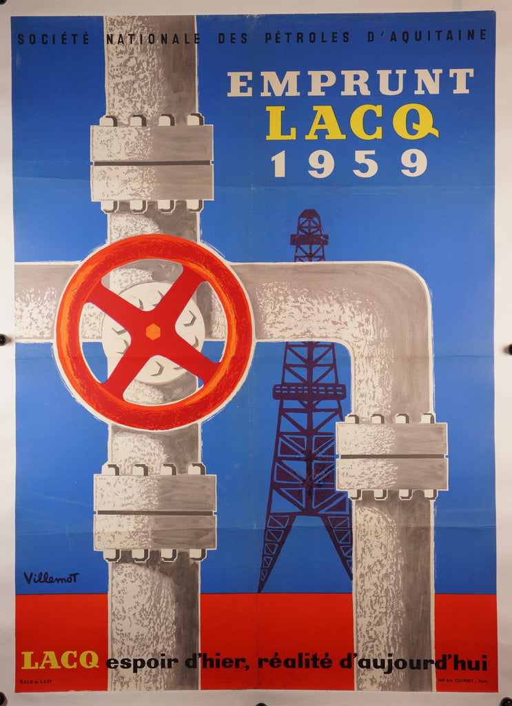 Emprunt Lacq (1959) - Original and Authentic Vintage Poster