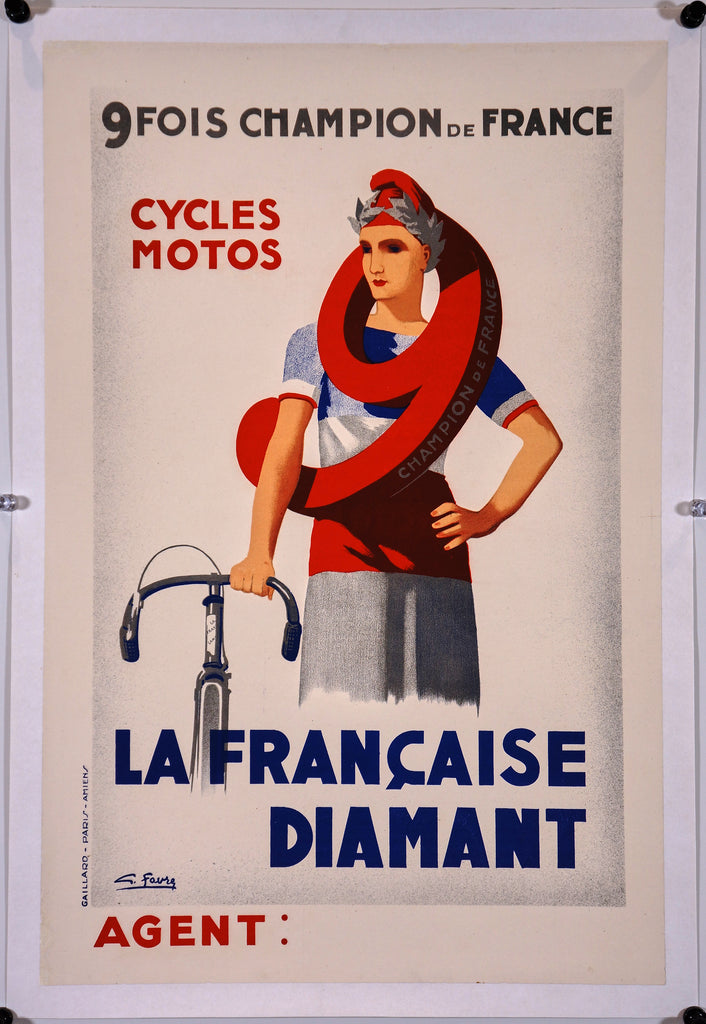 La Francaise Diamant (1930s) - Original and Authentic Vintage Poster