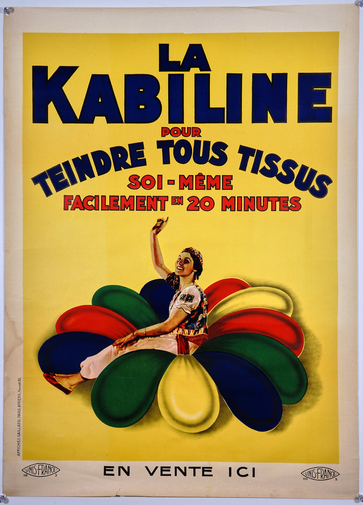 La Kabiline (1930s) - Original and Authentic Vintage Poster