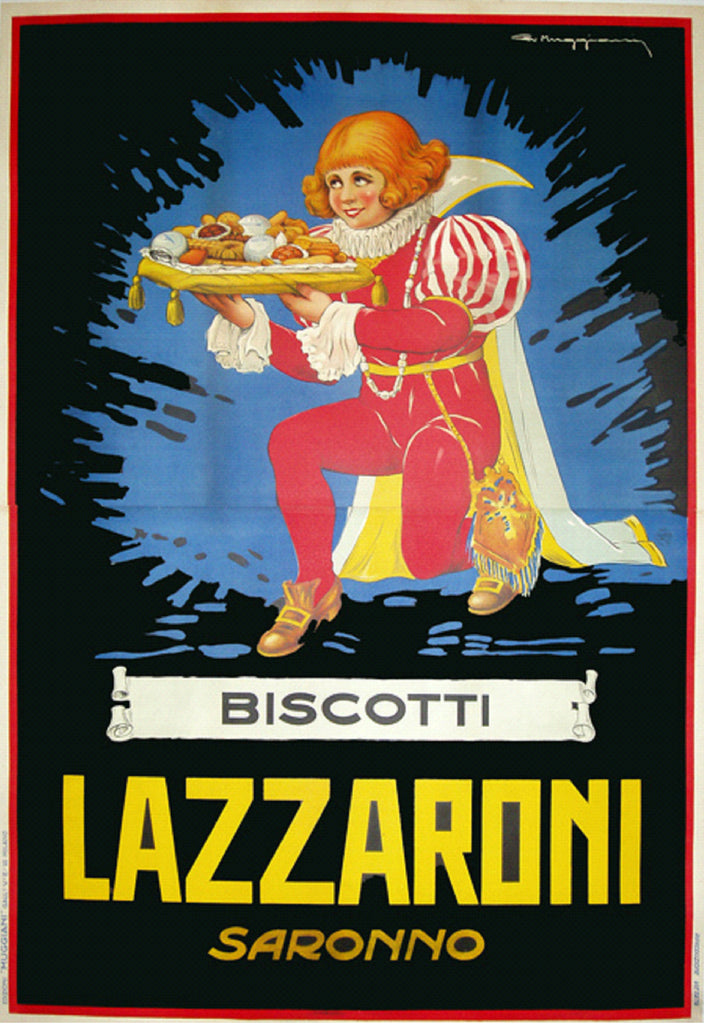 Biscotti Lazzaroni (1939) - Original and Authentic Vintage Poster