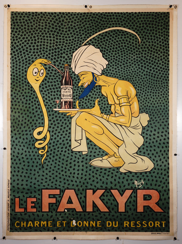 Le Fakyr (1921) - Original and Authentic Vintage Poster