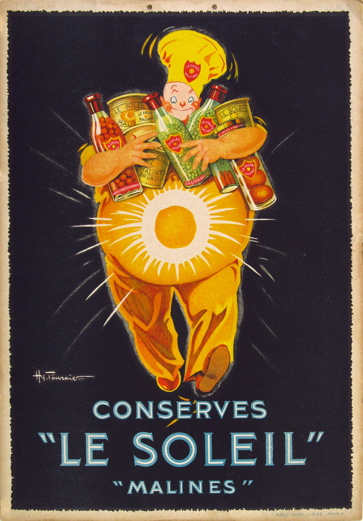Conserves Le Soleil Window Card (1930s) - Original and Authentic Vintage Poster