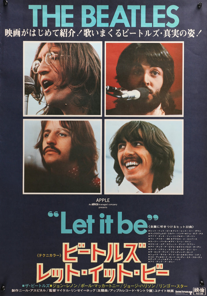 The Beatles- Let it Be (1970) - Authentic Vintage Posters