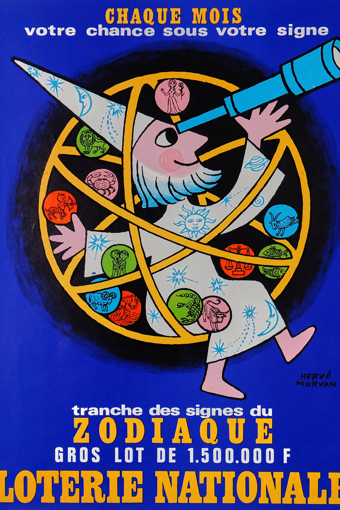 Loterie Nationale,  Hervé Morvan (1970) - Original and Authentic Vintage Poster