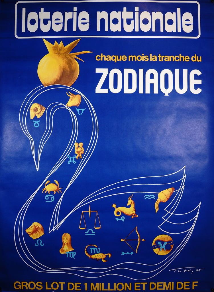 Lotterie Nationale- Zodiaque (1976) - Original and Authentic Vintage Poster