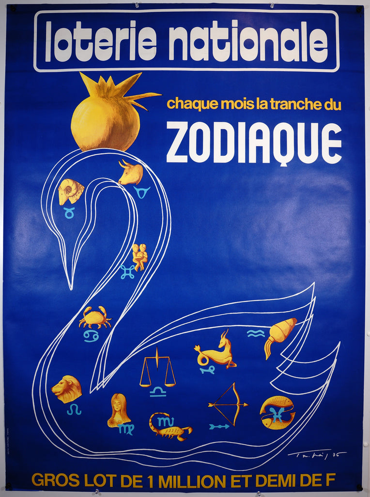 Lotterie Nationale- Zodiaque (1976) - Authentic Vintage Posters