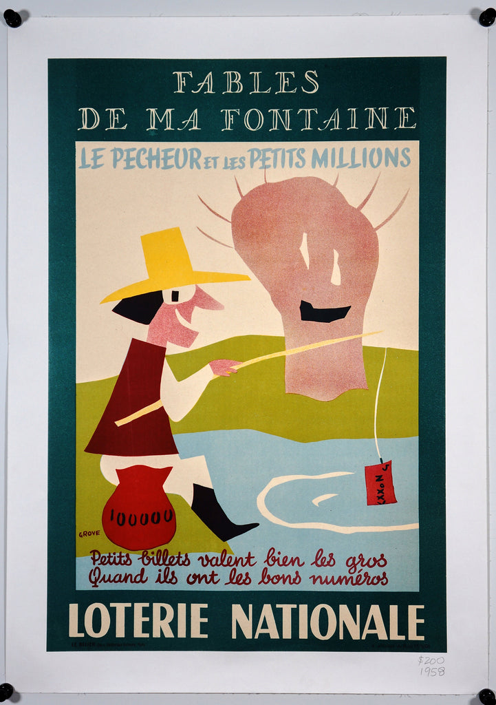 Loterie Nationale (1958) - Original and Authentic Vintage Poster