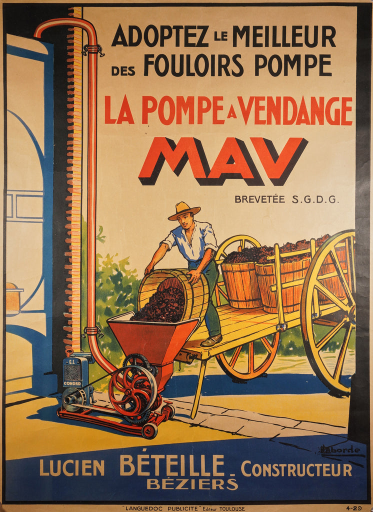 The Vintage Pump- MAV (1929) - Original and Authentic Vintage Poster