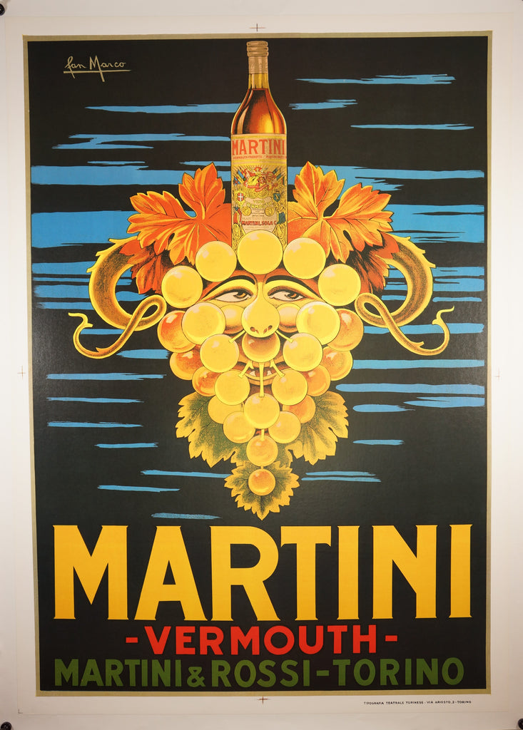 Martini Vermouth (1960s) - Original and Authentic Vintage Poster