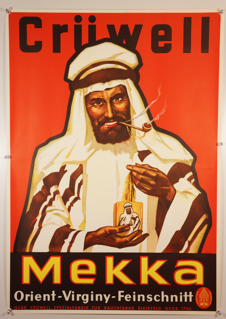 Cruwell Mekka Tobacco (1950s) - Original and Authentic Vintage Poster