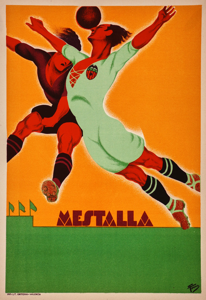 Estadio Mestalla Valencia (c1930) - Original and Authentic Vintage Poster
