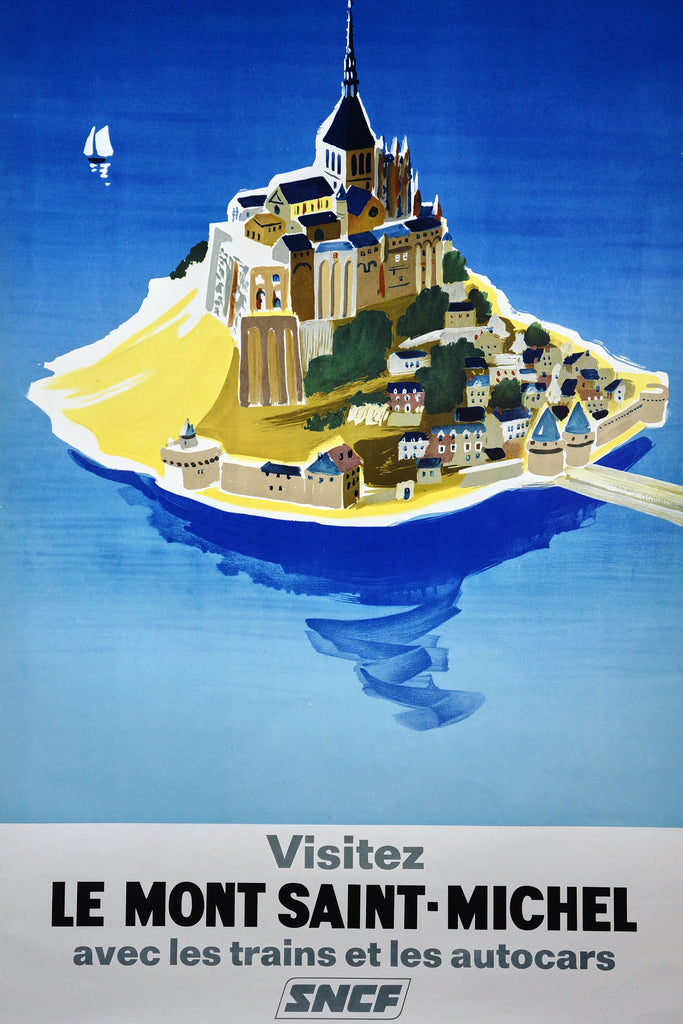 Visit Mont Saint-Michel by Villemot (1968) - Original and Authentic Vintage Poster