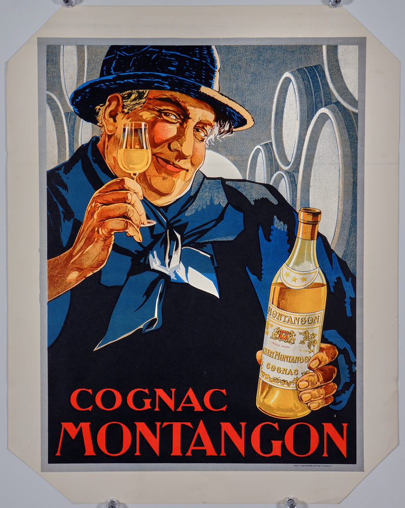 Cognac Montangon (1910s) - Original and Authentic Vintage Poster