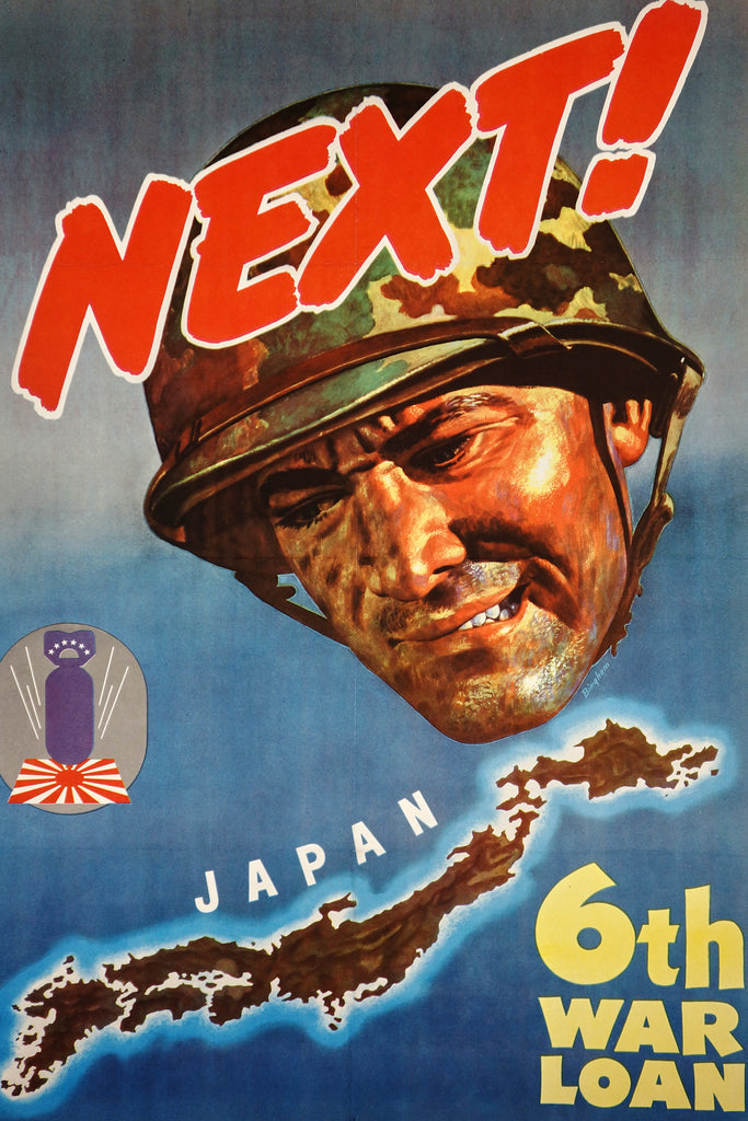 Next- 6th War Loan (1944) - Original and Authentic Vintage Poster
