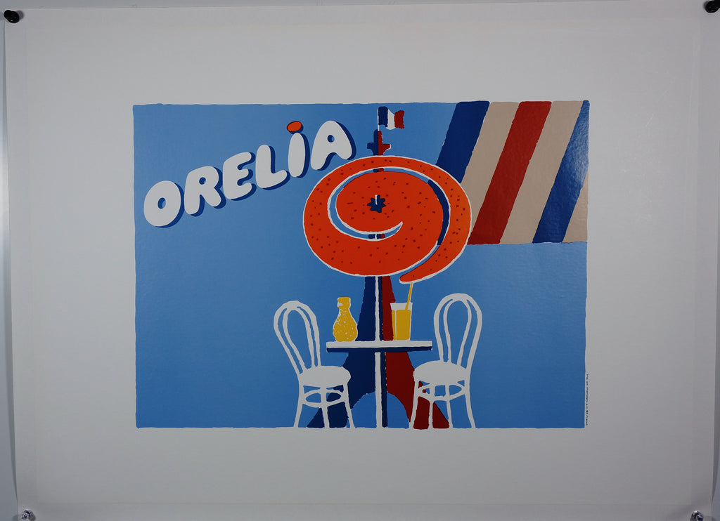 Orelia by Villemot (1980) - Original and Authentic Vintage Poster