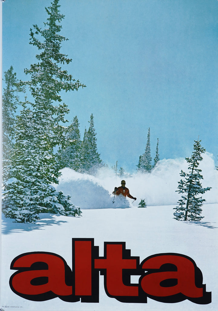 ALTA, Utah Ski Poster (1960s) - Original and Authentic Vintage Poster