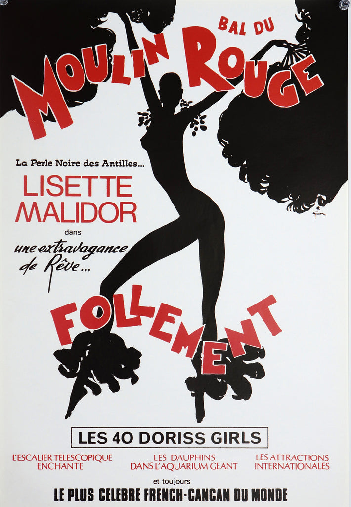 Moulin Rouge Follement (1976) - Original and Authentic Vintage Poster