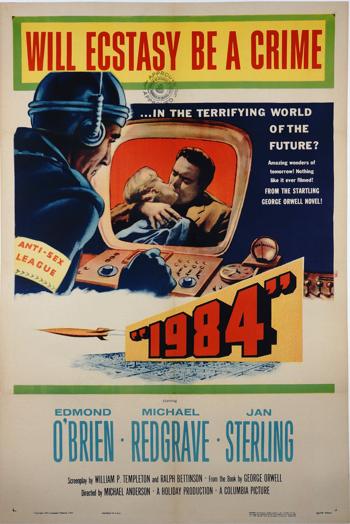 1984 by George Orwell (1956) - Original and Authentic Vintage Poster