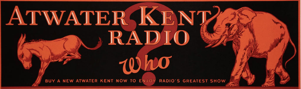 Atwater Kent Radio (1925) - Original and Authentic Vintage Poster