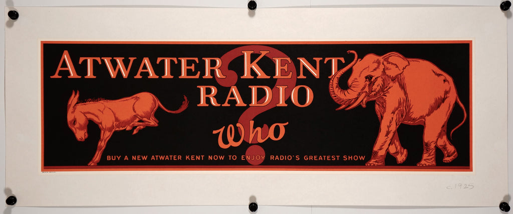Atwater Kent Radio (1925) - Authentic Vintage Posters