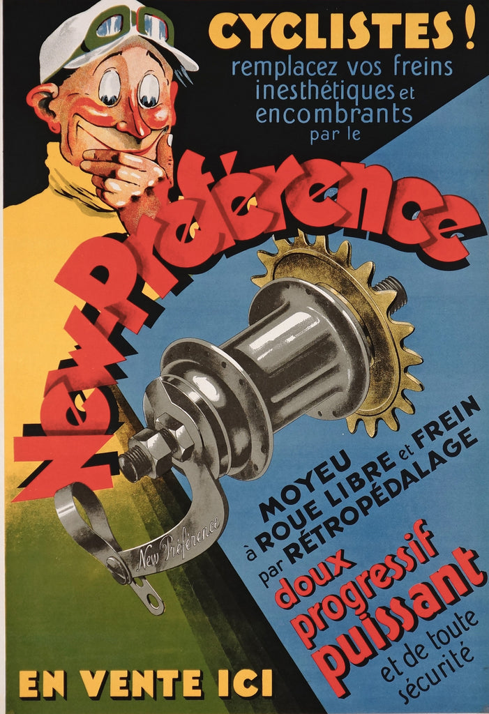 New Preference Cycling Hub (1920s) - Original and Authentic Vintage Poster