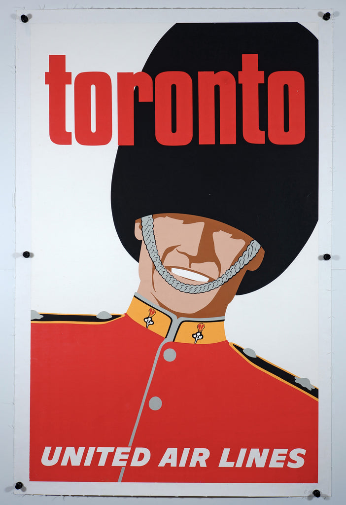 United AirLines Toronto (1960s) - Original and Authentic Vintage Poster