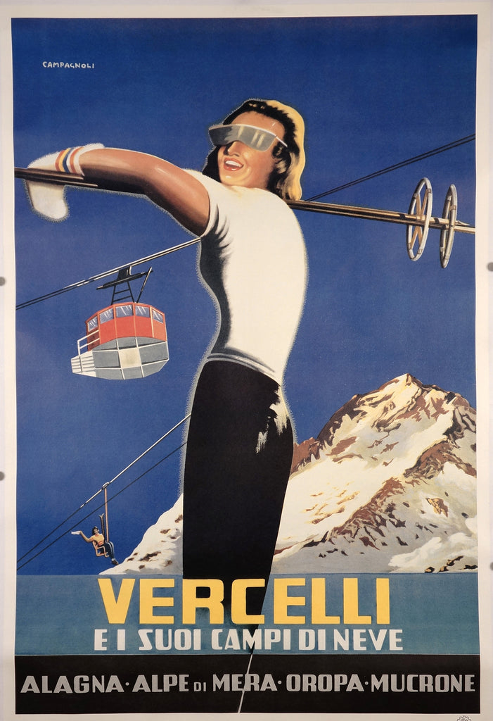 Vercelli (1951) - Original and Authentic Vintage Poster