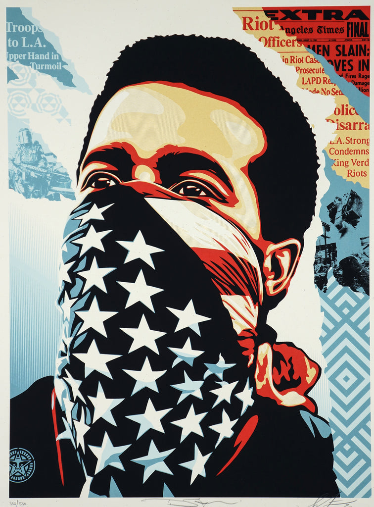 Obey Giant American Rage (Ted Soqui ) signed by Shepard Fairey Limited Ed. /550 - Original and Authentic Vintage Poster