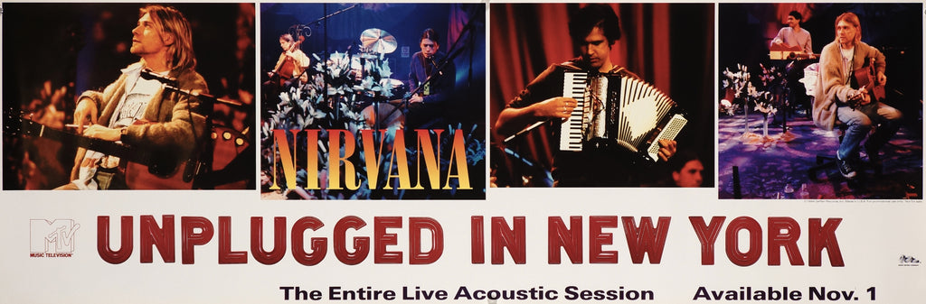 Nirvana Unplugged in New York (1994) - Original and Authentic Vintage Poster