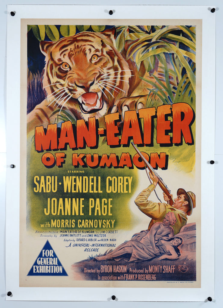 Man Eater of Kumaon (1948) - Authentic Vintage Posters