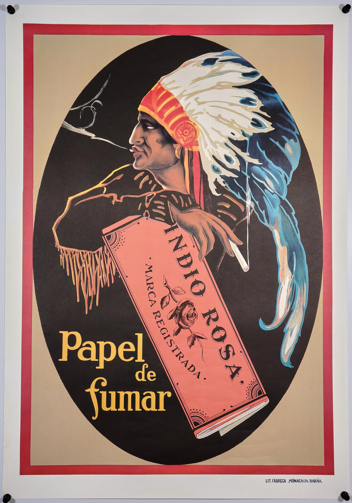 Papel de Fumar (1960s) - Original and Authentic Vintage Poster